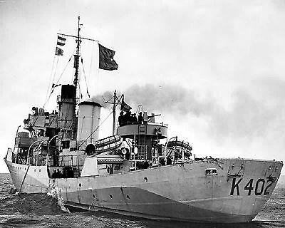 Royal Canadian Navy Corvette Hmcs Giffard K402 With Stats And History Sheet