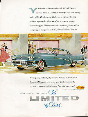 1958 Buick Car Ad --Buick Limited ----z1026