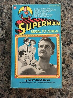 Superman, Serial To Cereal, Paperback, Pb, Popular Library, Grossman, 1979