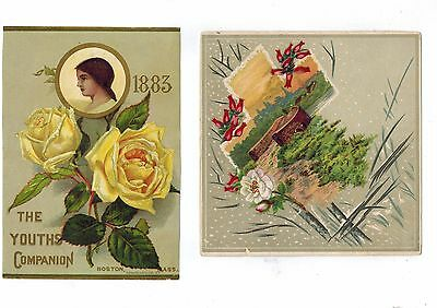 Vintage Trade  Cards, Lot of 13 from 1800s: Arbuckle Coffee, Youths' Companion,