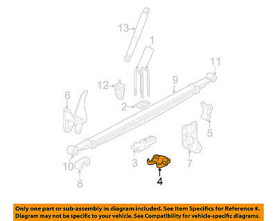 GM OEM Rear Suspension-U-bolt Plate 25761309