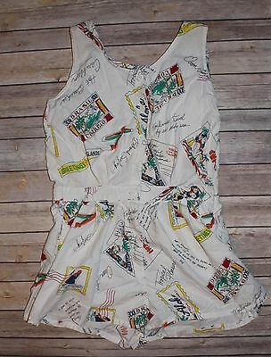 Vintage 70's Sleeveless Shorts Romper by PINOT NOIR Travel Size 6 Medium Cruise