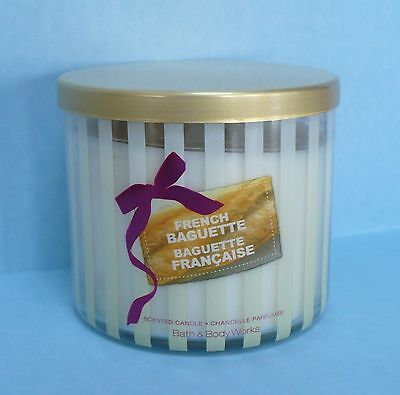 Bath And Body Works French Baguette Bread Scented 3 Wick Candle 14.5 Oz USA Made