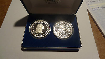 National collectors mint restrike 1794 silver dollar with 1776 restrike