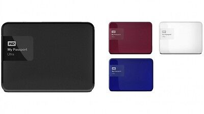 WD My Passport Ultra 1TB/2TB/3TB/4TB External Portable Hard Drive USB 3.0