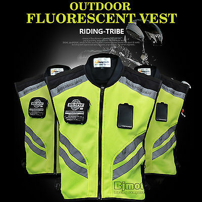 Cycling Vest Reflective Motorcycle Jacket Warning Riding Safety Gear Visibility