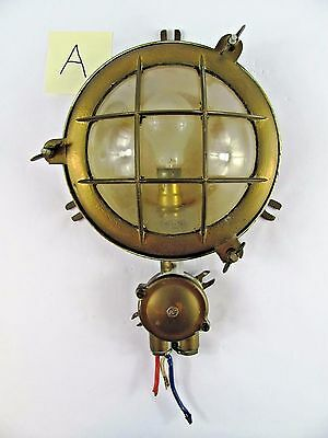 Vintage Brass Copper Marine Deck Light  Boat Ship Light Sconce Industrial Dock