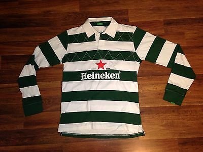 Heineken Beer Rugby Shirt Green White Stripe L/S Size XL NWOT