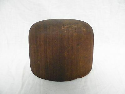 Vtg Antique Wooden Hat Form Millinery Hatmakers Primitive Display (F)
