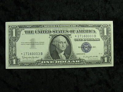1 old note lot UNITED STATES $1 dollar Silver Certificate Star Note 1957 B