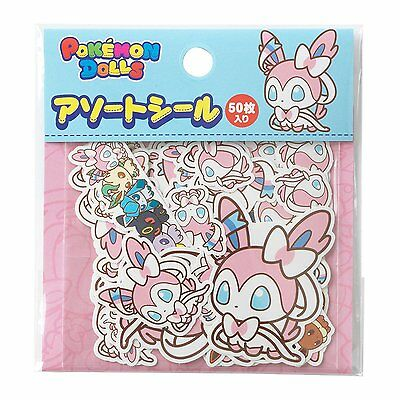[Japan Pokemon Center Limited] Assorted seal Sylveon POKEMON DOLLS NP