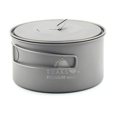 TOAKS POT-900-D130 Titanium Pot 900ml Camping Cooking Pots Picnic Ultralight