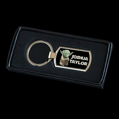 Personalised Yoda Star Wars Keyring, Yoda tag for bag