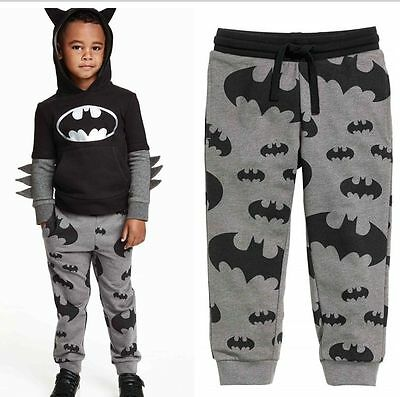 2017 Spring Baby Boys Kids Cartoon Batman Printed Pants Casual Trousers 2-7Y
