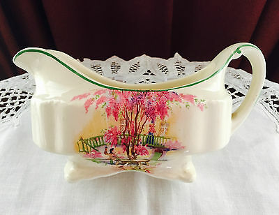 Vintage J & G Meakin England Lilac Tree Gravy Boat C1920-1930's