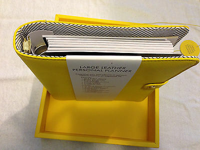 Kikki K Planner Yellow  Large A5 size New In Box