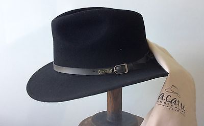 Fedora  jacaru Australian wool  Water replant   Packer hat in a bag traveling