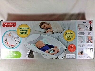 Fisher-Price Newborn Auto Rock 'n Play Sleeper Motorized Rocking Motion CHN21