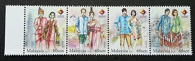 Malaysia Traditional Attire 4 Nation 2015 Costume (stamp) MNH *rare *unissued