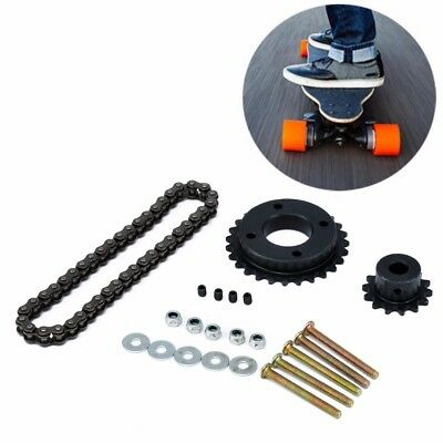 Electric Longboard 8044 Skateboard Replace Part-Sprocket Chain Wheel Set New