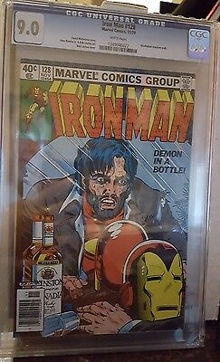 Iron Man 128 CGC 9.0 White Pages! Free shipping!!