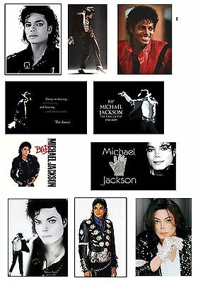 Michael Jackson  Set Of 10 Flexible Thin  Fridge Magnets  Birthday Rip