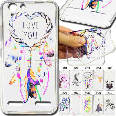 For Lenovo Vibe K5 Back Soft Gel TPU+IMD Clear Cover Silicon Protector Case Skin