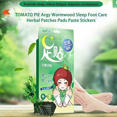 TOMATO PIE Argy Wormwood Sleep Foot Care Herbal Patches Pads Paste Stickers LA