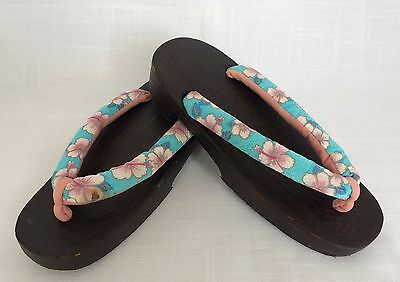 Japanese yukata wood geta sandals for women, 23cm, Japan import, used (X1429)