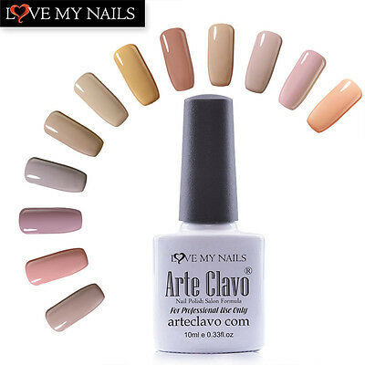 10ml Arte Clavo Nude Series Nail Art Soak off UV Gel Polish Varnish 18 Colors