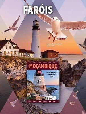 Z08 IMPERFORATED MOZ16125b MOZAMBIQUE 2016 Lighthouses MNH