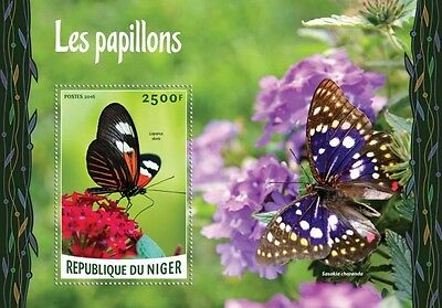 Z08 Imperforated NIG16202b NIGER 2016 Butterflies MNH