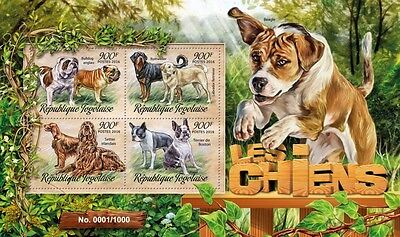 Z08 Imperforated TG16205a TOGO 2016 Dogs MNH