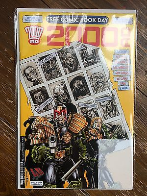 2000AD SPECIAL FCBD 2017 NO DEALER STAMP Judge Dredd 2000 AD