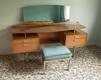 Mid Century 1960's G Plan E Gomme Limba Dressing Table