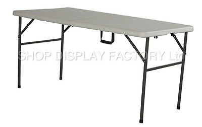 New 5ft Folding Trestle Outdoor Camping Hobby Kitchen Work Top Market BBQ Table