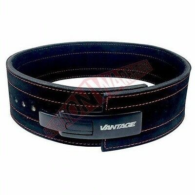 Vantage Strength Accessories LEATHER LEVER BELT Black-Small, Medium, Large Or XL