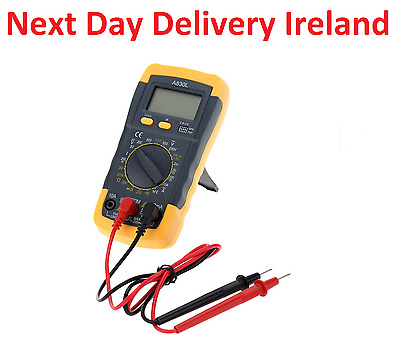 A830L LCD Digital Multimeter AC/DC 750/1000V Amp Volt Ohm Tester Meter Backlight