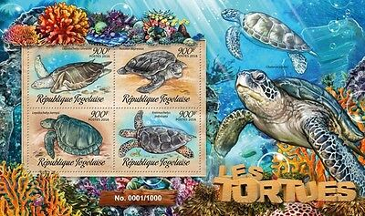 Z08 Imperforated TG16222a TOGO 2016 Turtles MNH