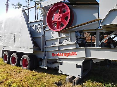 1976 Cedar Rapids Jaw Crusher Recondition & Re-Painted