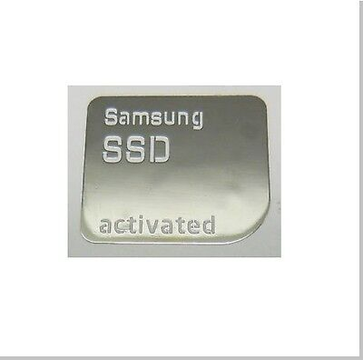 SILVER Samsung SSD Activated Metallic Stickers Chrome 7 vinyl 10 8 Windows
