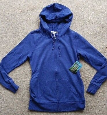 Motherhood Insect Shield Womens Maternity Blue Hoodie Jacket SZ S ~ New