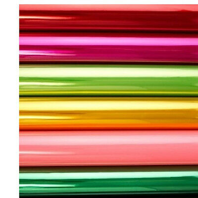 VIBRANT COLOURS TINTED CELLOPHANE WRAP 80cm Wide Folded + Free Ribbon /Gift Roll