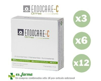 Endocare C Oil Free  7 Ampollas Antioxidantes Iluminadoras Vitamina C Phials 1Ml