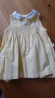 Marks and Spencer Yellow Cotton Dress size 6-12 months