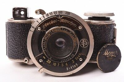 MINIFEX - FOTOFEX  Sub-miniature camera introduced in 1932 by the German company