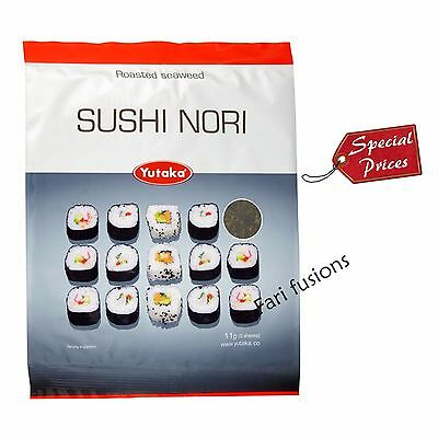 Yutaka Sushi Nori 5 Roasted Seaweed Sheets 11g pk - Available in different QTY