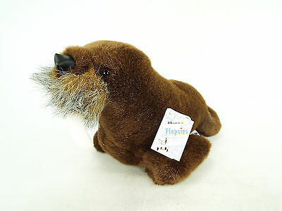A&A Flopsies Plush Walrus Whiskers Stuffed Animal Adoption with Tags
