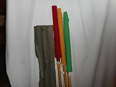 Vintage Us Military Wwii Cs90 Signal 3 Flag Set, Canvas Bag +More Flags