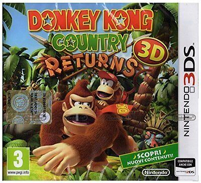 Donkey Kong Country Returns 3D Nintendo Ds Nuovo Italiano